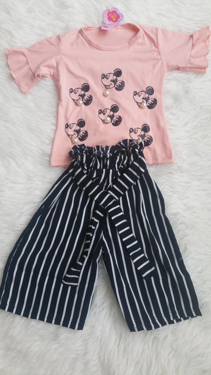 Jual Setelan Kulot Anak Perempuan Size 2 3 Tahun Murah Baju Anak Perempuan Kota Bekasi Agastyaoshop