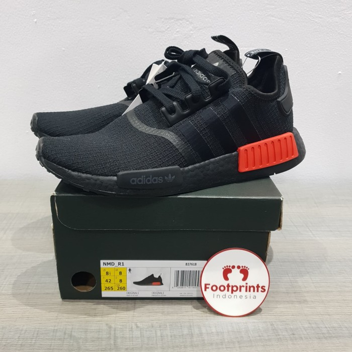 info for be99e 1abae Jual Adidas NMD R1 Core Black Lush Red 100% Original Sneakers - DKI Jakarta  - Footprints Indonesia | Tokopedia