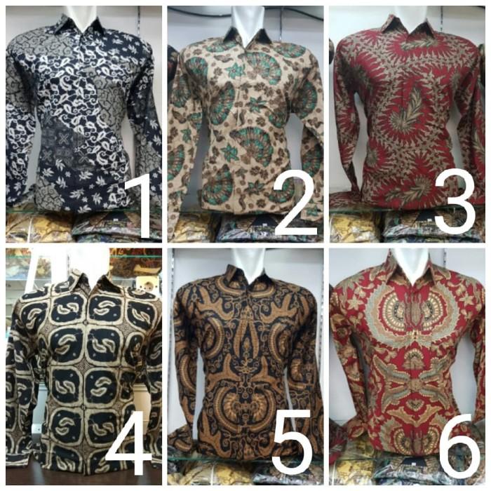 Jual Kemeja Baju Batik Pria Panjang Grosir Seragam Ika Fashion Tanah ... c348cf8364