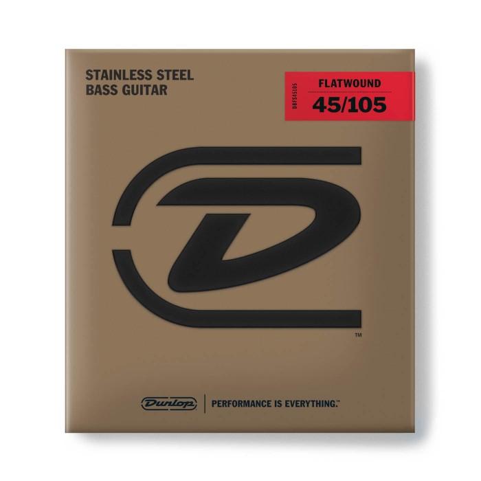 Senar bass dunlop flatwound dbfs45105 stainless steel