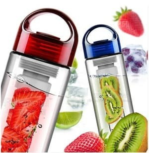 Tritan Water Bottle With Fruit Infuser BPA botol infuse water - Hijau