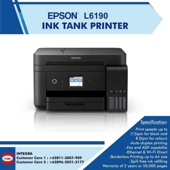 Jual Epson L6190 Wi Fi Duplex All In One Kota Surabaya Integra Hi Tech Tokopedia
