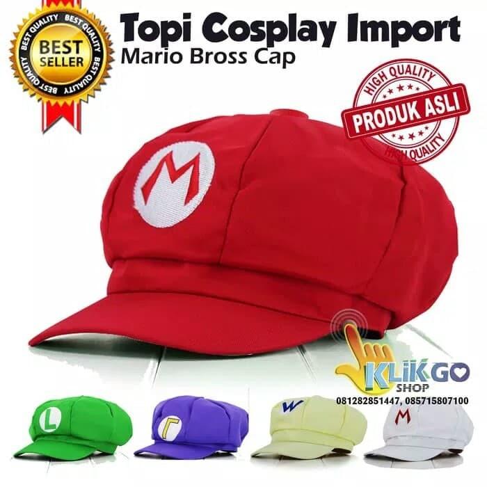harga Topi mario bross / topi cosplay mario bross Tokopedia.com