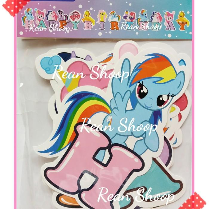 Jual Banner Flag Happy Birthday Hbd Ultah Karakter Kuda Poni My Little Pony Kota Bekasi Rean Shoop Tokopedia