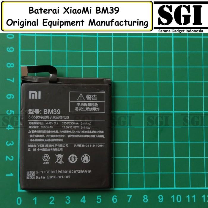 harga Baterai handphone xiaomi bm39 mi6 original oem tam batre mi 6 Tokopedia.com