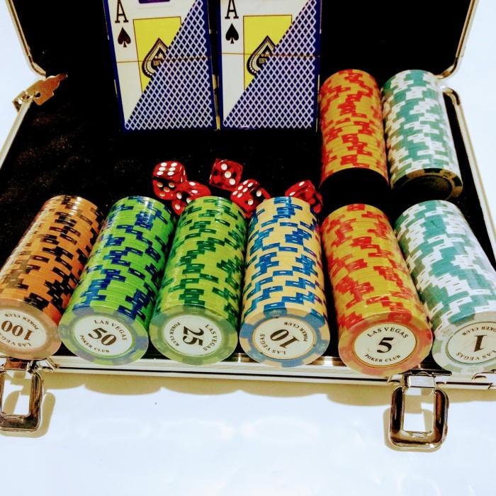 harga Poker chip set premium clay 14 gram 200 pc las vegas bonus kartu Tokopedia.com