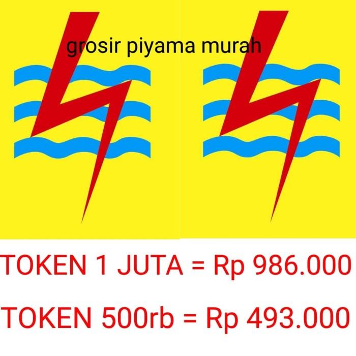 harga Pln token listrik 1jt / 1.000.000 murah Tokopedia.com