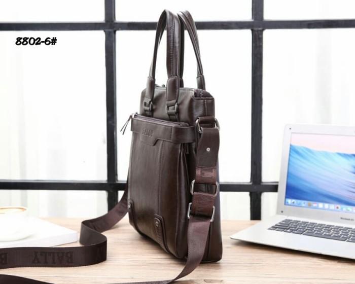 ebb2107f559 Jual High Premium Bally Sling Bag #8802-6 - Black - alevelshop ...