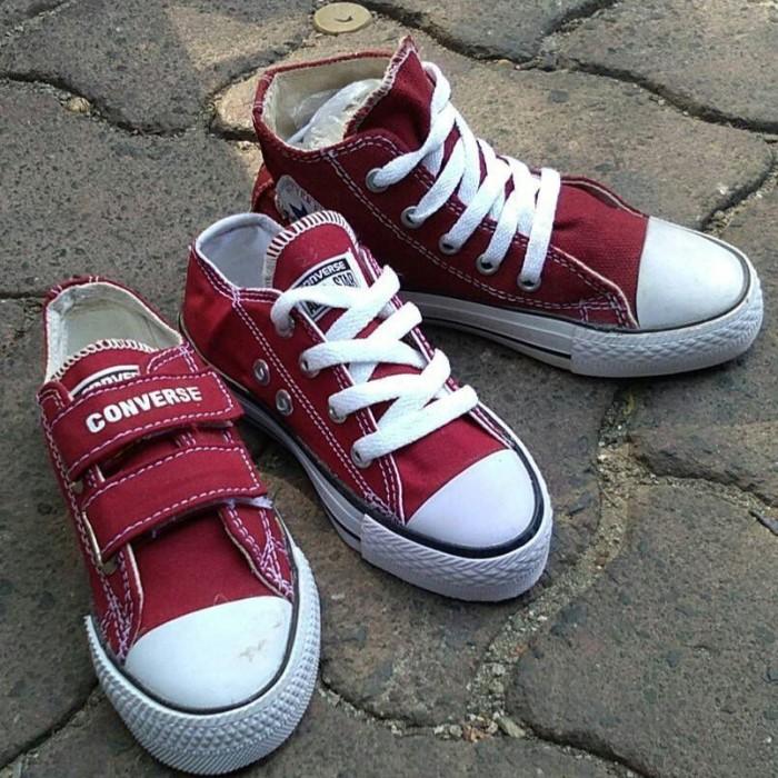 Jual Sepatu Converse Kids Maroon tanpa tali perekat  tinggi Converse ... ef3ef8a9ac