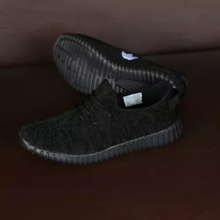 f327698454c5d Jual Sepatu Adidas Yeezy YZY Full Black Hitam Sport Casual Sekolah ...