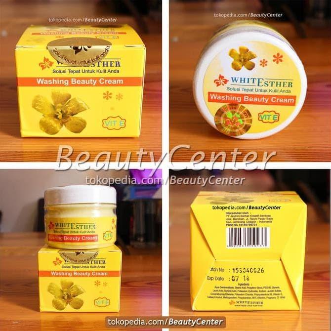 White Esther Washing Beauty Cream With Vitamin E \U002F Pom Na