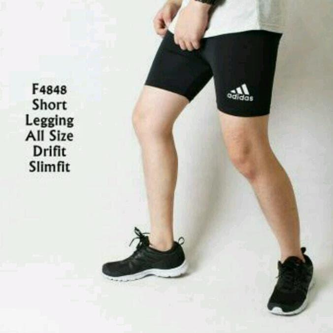 Jual Celana Legging Pendek Pria Gym Fitnes Lari Senam Jakarta Barat Boy Street Tokopedia