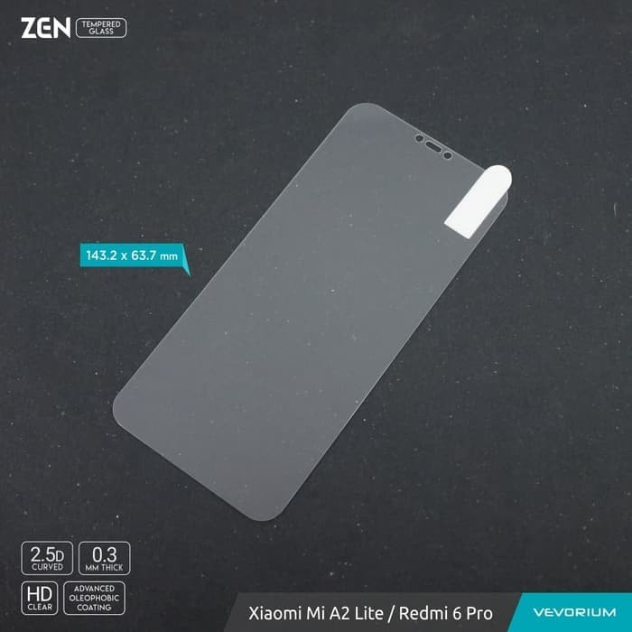 Foto Produk VEVORIUM ZEN 2.5D Clear Xiaomi Redmi 6 Pro Redmi6 Pro Tempered Glass dari RAHMAWATI LANCAR
