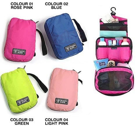 Travel Mate Toiletries Pouch Tas Penyimpanan Multifungsi - 5firt0062 - Blanja.com
