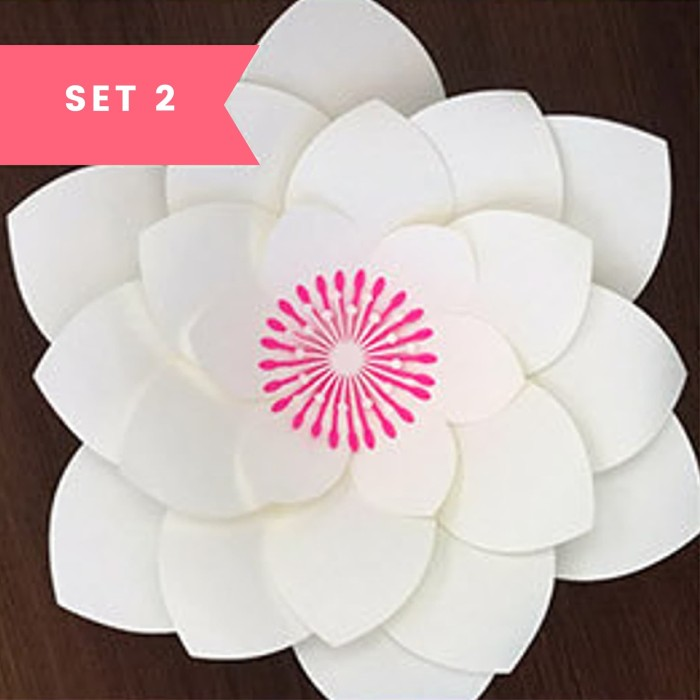 Jual Paper Flower Backdrop Template Pola Cetakan Bunga Kertas