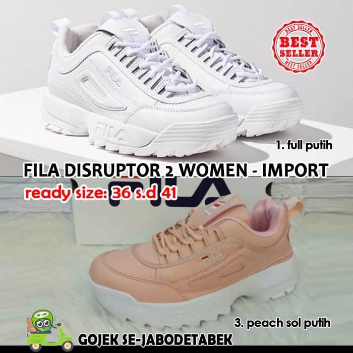 fila disruptor 2 women import. sepatu fila wanita. sneakers women - Full  Putih 064d65d5b0
