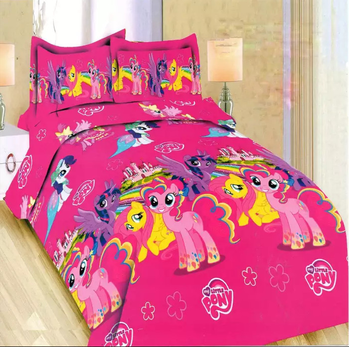 Sprei Bonita Disperse 3D King No.1 180 x 200 Seprai New Little Pony