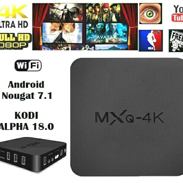 Jual Smart TV Box Android Nougat 7 1 4K Ultra HD MXq RK3229 - Rangga  Celluler | Tokopedia