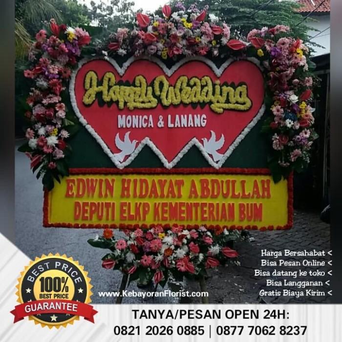 Jual Bunga Papan Happy Wedding 850rb Jakarta Selatan Kebayoran Florist Tokopedia