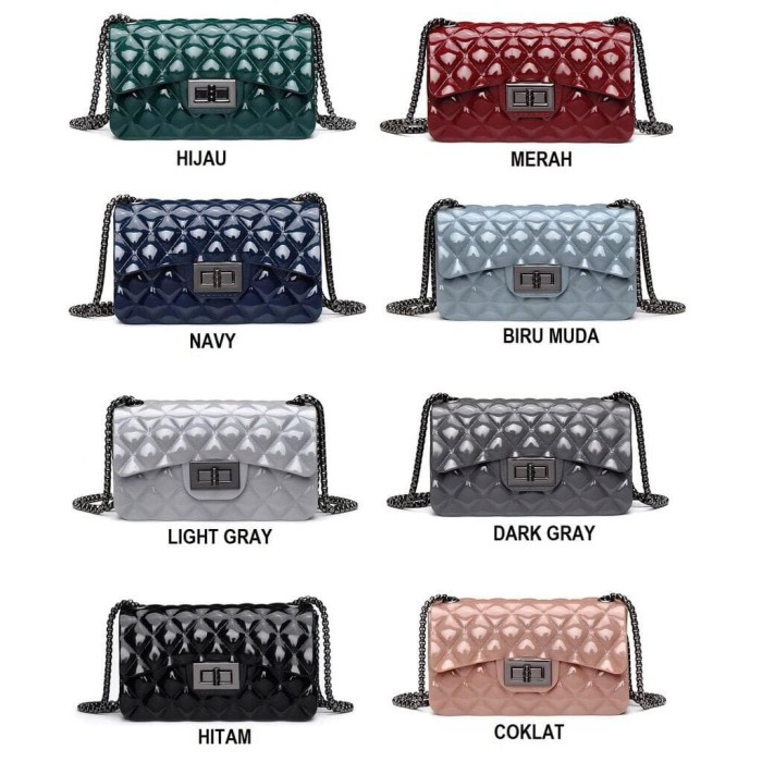 Jual TAS JELLY GLOSSY IMPORT SIZE 22 - Putih - Lipscollection ... 33bfe63ca9
