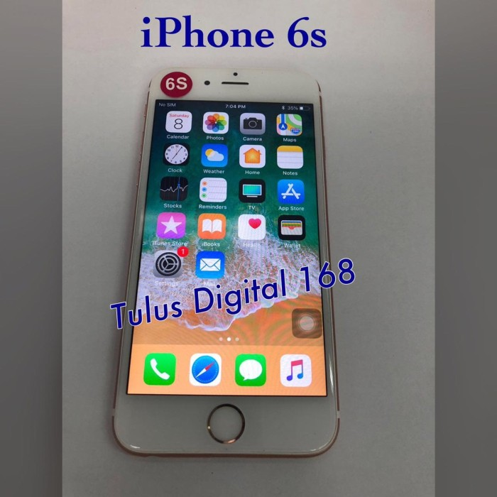 Jual Hp Iphone 6s 64gb Ori Seken Batangan Free Charger No Fp Dki