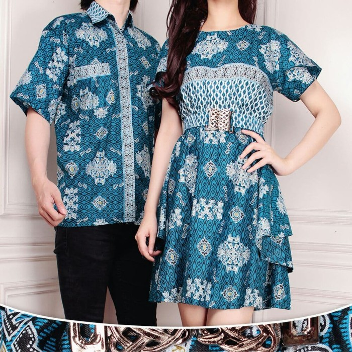 harga Cici batik couple dress maxi pendek wanita dan atasan kemeja pria m-xl Tokopedia.com