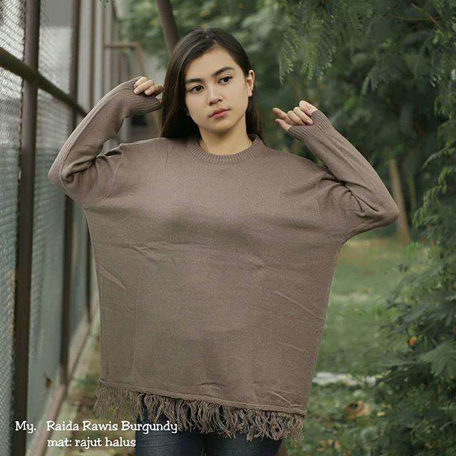 Jual yI Raida Rawis rajut wanita rajut halus murah baju muslim baju ... ed7b65ec15