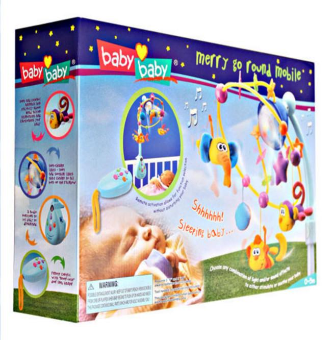 Sayang bayi anda dengan mainan merry go round ada lampu suara (73690)
