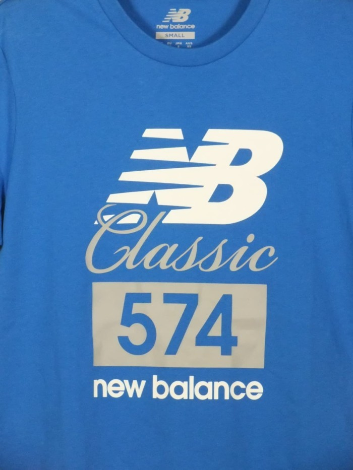 Jual Kaos Tshirt tees New Balance 574 Clasics Blue original bnwt ... f59172b9a9