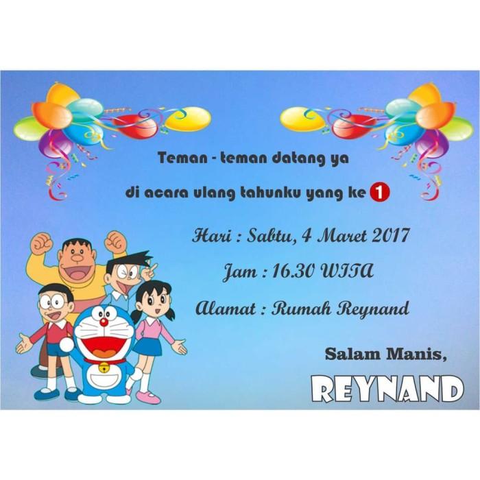 Jual Kartu Undangan Ulang Tahun Doraemon A Limited Stock