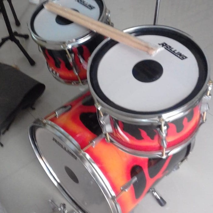 harga Drumset mini 16  (sner-tam-bas-simbal-kick drum) ring chrom Tokopedia.com