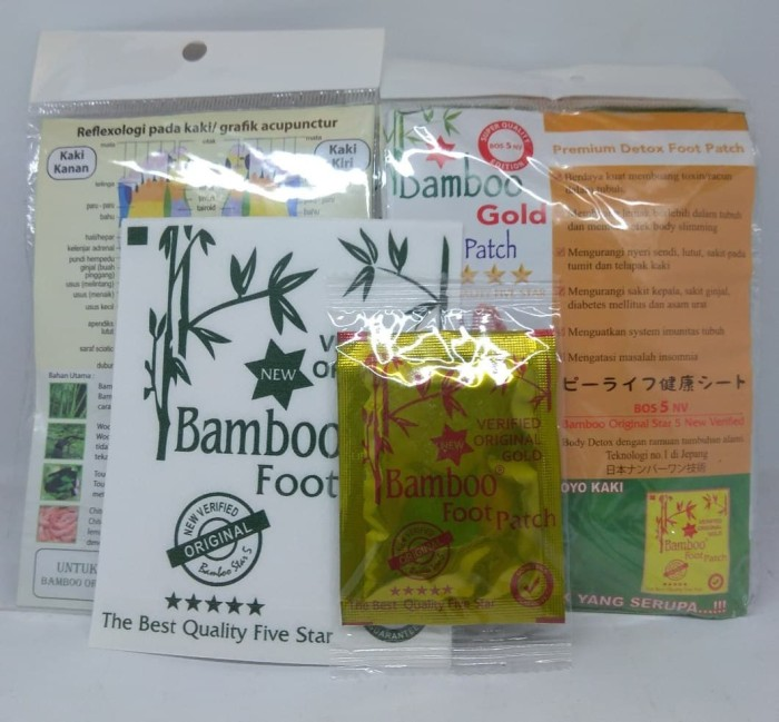 Koyo Kaki Bamboo Bambo Gold 1 pasang Detox Foot Patch ORIGINAL