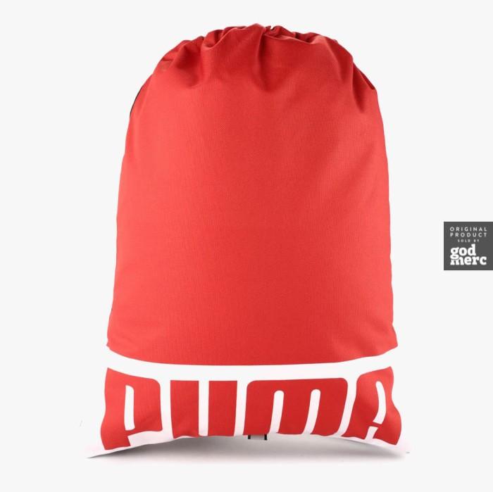 ORIGINAL Puma Puma Deck Gym Sack Sling Bag Ribbon Red