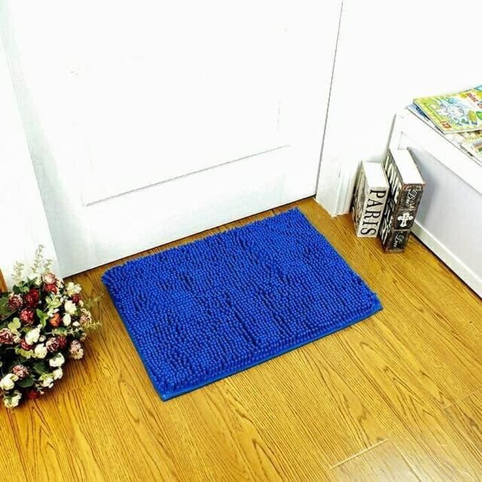 Keset Cendol Dof Biru 40 x 60 cm / karpet bulu / doormat chenille blue