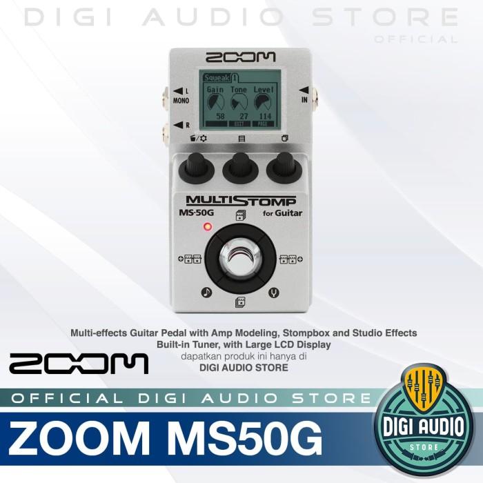 harga Zoom ms50g multistomp - multi efect guitar pedal stompbox - efek gitar Tokopedia.com