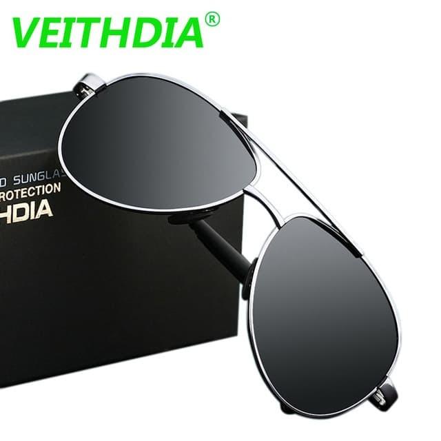 Jual UV400 Pilot Veithdia Kacamata Aviator Polarized Sunglasses ... 4acf668839