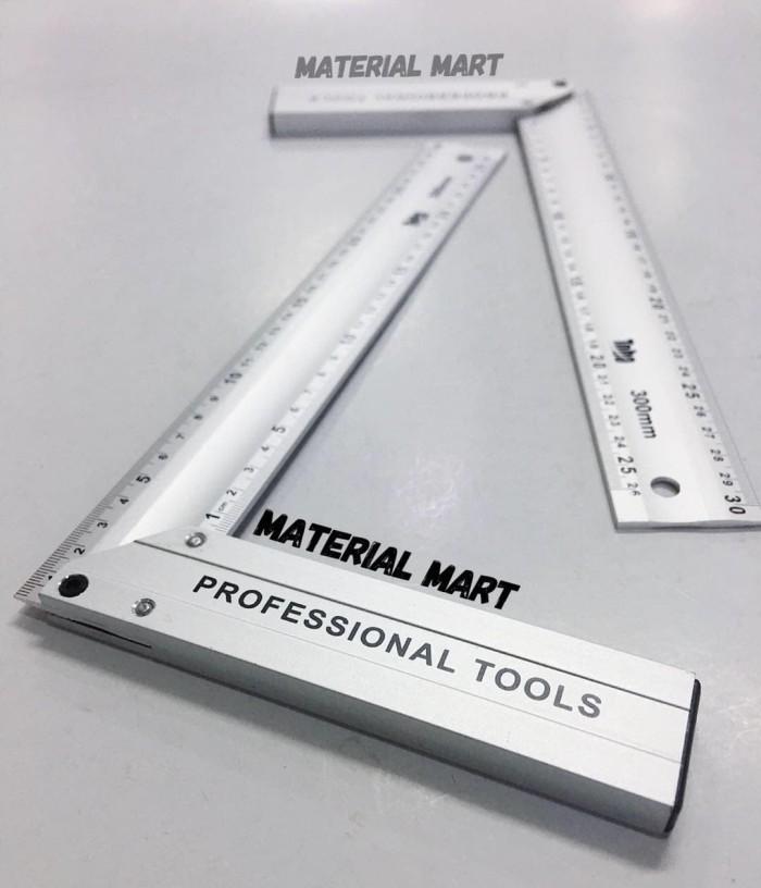 Foto Produk Penggaris Premium Siku Tukang TOHO 30 CM Alat Ukur Meteran Pasekon dari Material Mart
