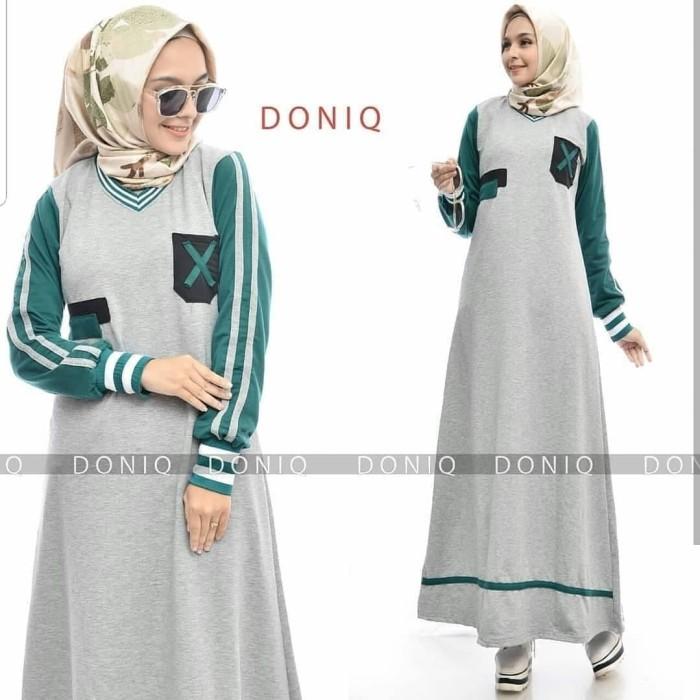 Baju Gamis Wanita Muslim Doniq Dress - Maxi Dress Pesta Long Dress - Kuning 19d73b12e5