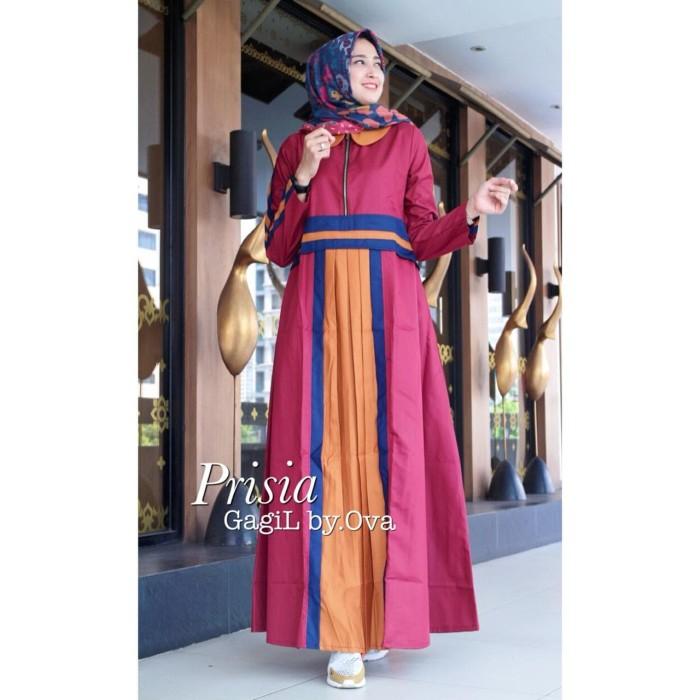 Jual Prisia Dress By Gagil Gamis Busui Polos Simple Kekinian Remaja