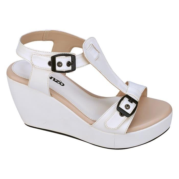 cda54994a756 Jual OBRAL MURAH WEDGES BRANDED.. sandal wedges putih pesta modis ...