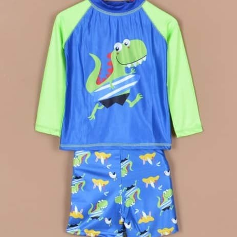 1-5TH Baju renang anak laki-laki cowok pirates 2in1 celana renang