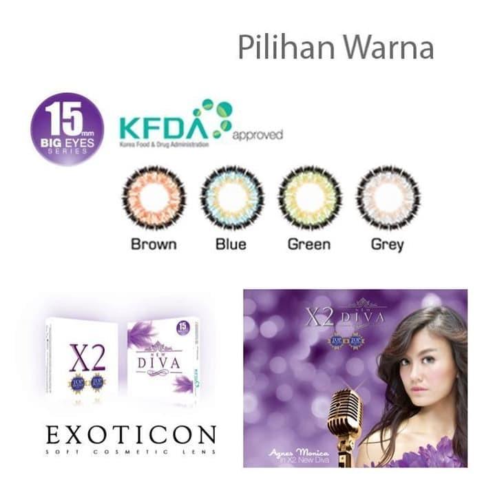 Softlens X2 DIVA / Soft Lens EXOTICON DIVA SUDAH DEPKES