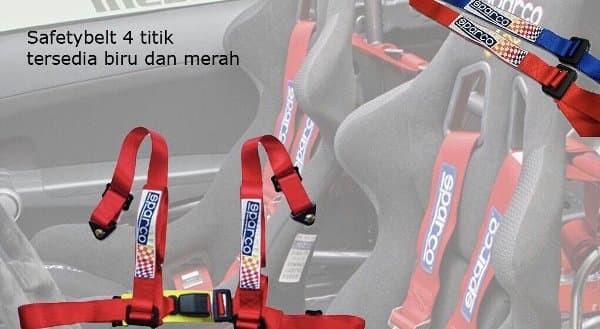 Safety Belt Sabuk Sparco Colok 2 in