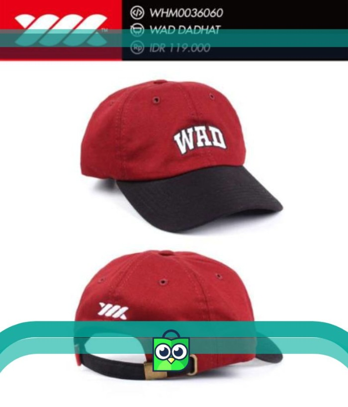 Baseball Cap   Polo Cap   Dad Hat   Topi Distro WADEZIG (Original) 630496cd04