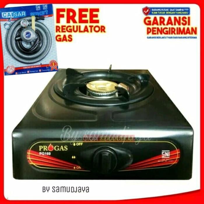 Dapur Pilihan Kompor Gas 1 Tungku Progas Selang Regulator Meter Luxur