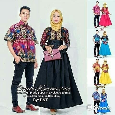 Jual Baju Batik Couple Rok Model Kebaya Hem Kemeja Cowok Lengan Pendek Kab Karanganyar Batik Busana Solo Tokopedia
