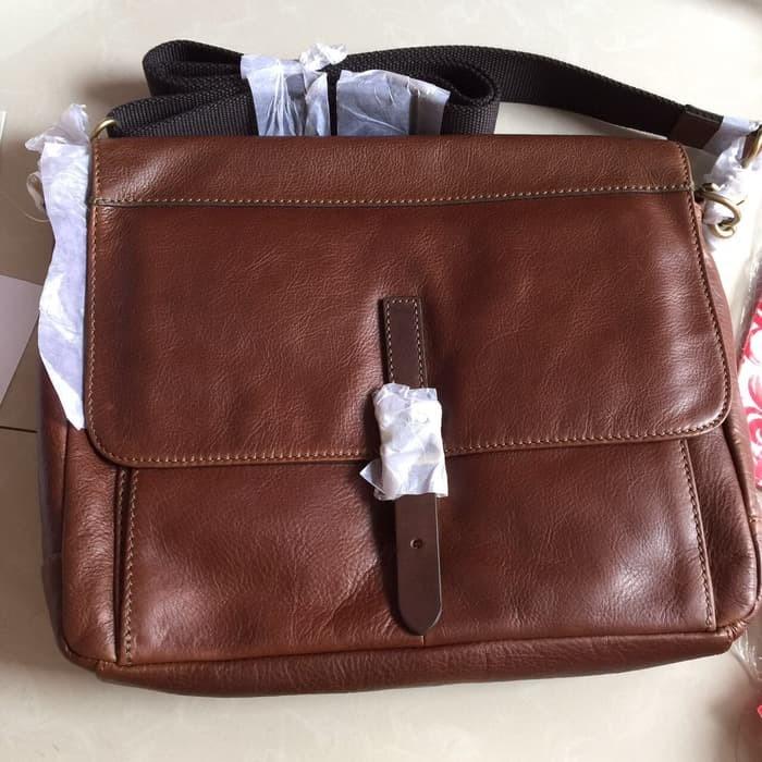 Beli Luxury Tas Wanita Fossil Man Defender Ew City Brown Bag Nwt Original