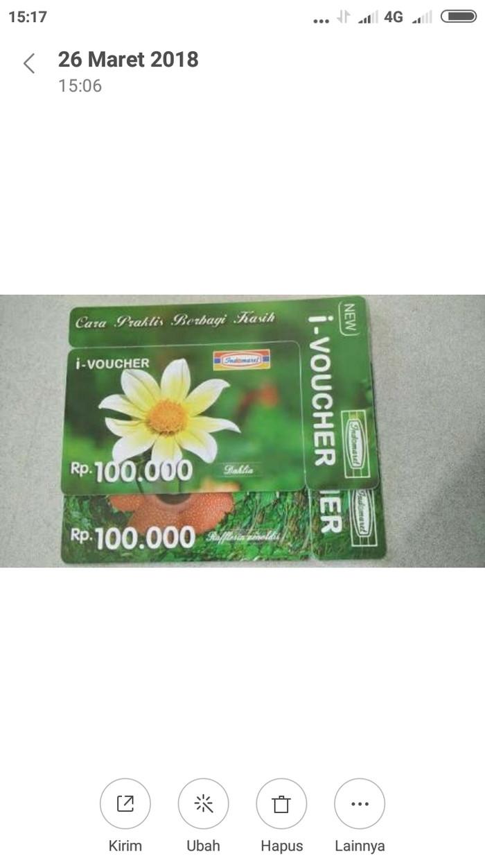 Harga Voucher Indomaret Pecahan Rp 100000 110000