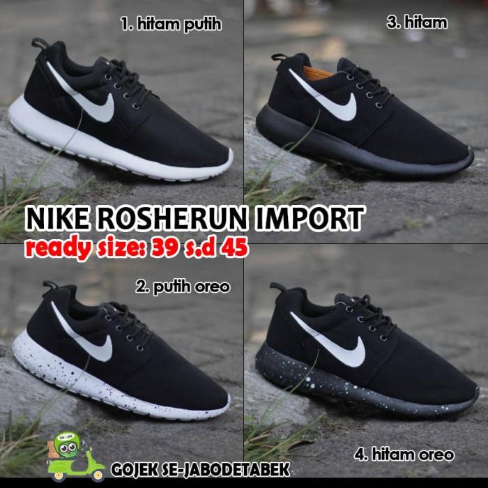 dla całej rodziny za pół oficjalny sklep Jual Sepatu Nike Roshe Run (hitam) - Putih Oreo, 41 - Jakarta Selatan -  Tokokubelibeli | Tokopedia