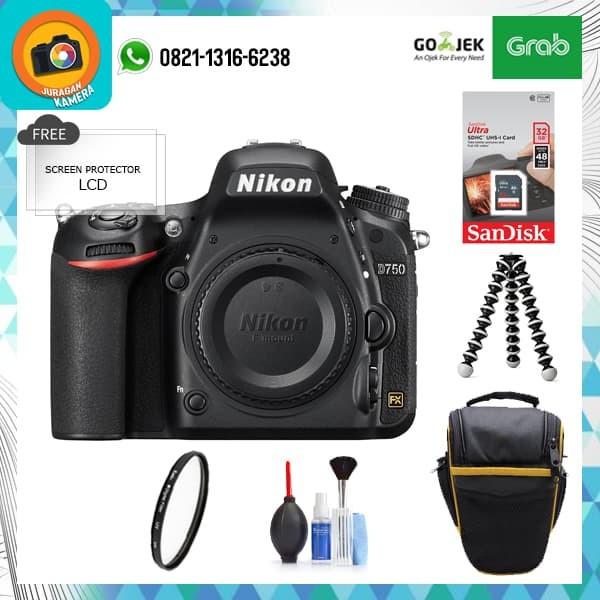 Nikon D750 Body Only (Paket) - Hitam